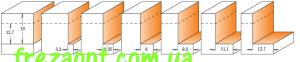 Фреза по дереву для четверти CMT 935.502.11 (34,9x19x12x66) 0