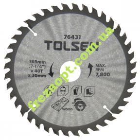 Дискова пила Tolsen 76431 Ø185*2.2*1.5*Ø30 Z40