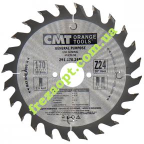Пильный диск CMT 291.170.24M (170x30x2,6x1,6) 24Z