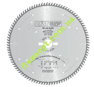 Пила для чистого торцового распила CMT 274.080.10M (250x30x3,2x2,2) 80Z