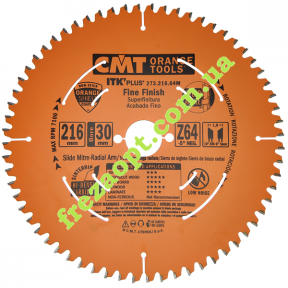 Пильный диск CMT 273.216.64M (Ø216xØ30x1,8x1,2) Z64