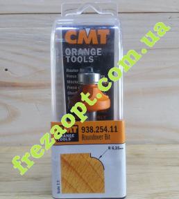 Радиусная кромочная фреза CMT 938.254.11 R6,35 (25,4x12,7x8x54)