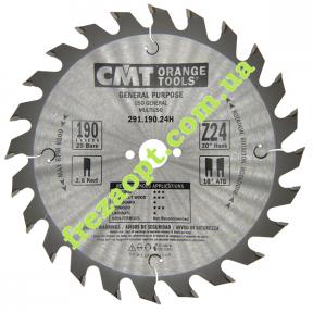 Пильный диск CMT 291.190.24H (Ø190xØ20x2,6x1,6) Z24