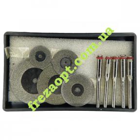 Набор алмазных дисков для бормашин (5 дисков и 5 державок)