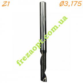 Однозаходная спиральная фреза по алюминию и композиту Sekira 31-616-120 Z1 (3,175x12x3,175x40)