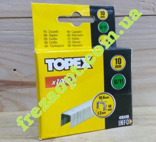Скобы TOPEX 41E410 G/11 (10,0x10,6x1,2)
