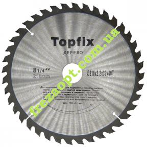 Пильный диск Topfix Ø210*2.2*1.5*Ø32 Z40 (Поперечное пиление)