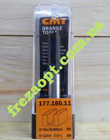 Погружная пазовая фреза CMT 177.160.11 16x35x12x90 Z2+1