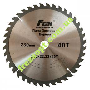 Диск по древесине FOW 230x22.23x40Z