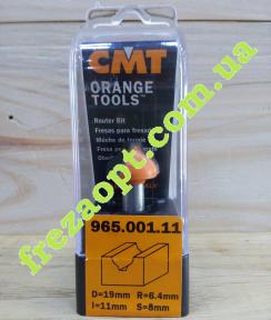 Фреза для филенки и фасадов CMT 965.001.11 R6,4 (19x11x8x51)