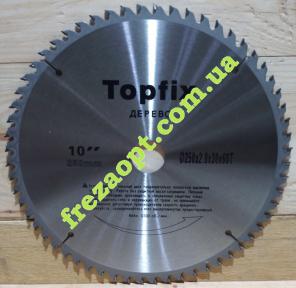 Пила по дереву Topfix 250x2,8x1,8x30 Z60