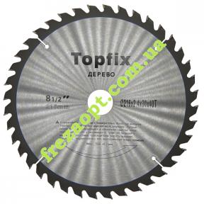 Пильный диск Topfix Ø216*2.4*1.7*Ø30 Z40 (Поперечное пиление)