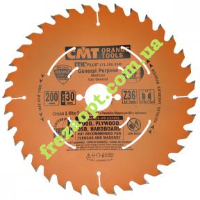 Пильный диск CMT 271.200.36M (Ø200xØ30x1,8x1,2) 36Z
