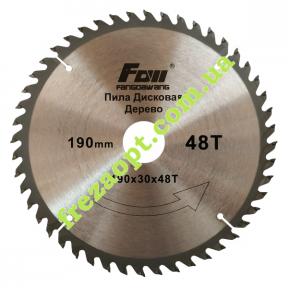 Диск по древесине FOW 190x30x48Z