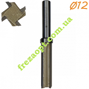 Прямая кромочная фреза Глобус® 1021 Z4 D12 h40 d8 L80