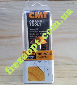 Концевая кромочная фреза CMT 905.240.11 45 (25x8x8x41)