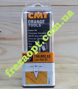 Фреза для гравировки CMT 758.002.11 35°  (Ø6x9xØ6x50)