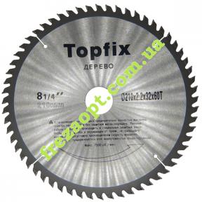 Пильный диск Topfix Ø210*2.2*1.5*Ø32 Z60 (Поперечное пиление)
