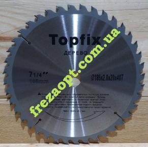 Пила по дереву Topfix 185x2,0x1,3x20 Z40