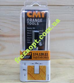 Погружная пальчиковая фреза CMT 174.120.11 (12x20x8x60) Z2+1