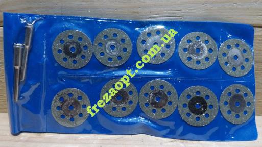Набор алмазных перфорированных дисков 25,0мм +2хв