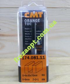Пальчиковая погружная фреза CMT 174.081.11 (8x30x8x70) Z2+1