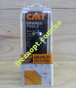 Фреза для снятия фаски CMT 659.045.11 45 (29x8x8x61)