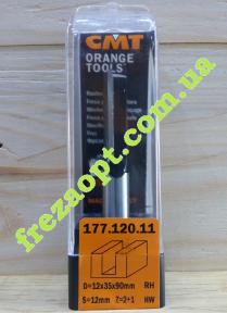 Прямая пальчиковая фреза CMT 177.120.11 (Ø12x35xØ12x90)