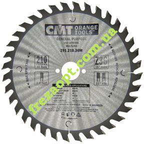 Диск CMT 291.210.36M (210x30x2,8x1,8) Z36 (Для продольного и поперечного пиления)