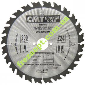 Диски для продольного пиления CMT 290.200.24M (Ø200*2.8*1.8*Ø30) Z24