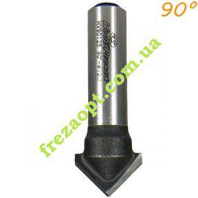 Концевая фреза для гравировки WoodPecker HV90125 90° 12,7x8x8x38,5