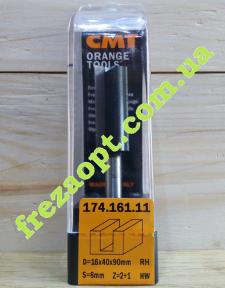 Погружная пазовая фреза CMT 174.161.11 16x40x8x90 Z2+1