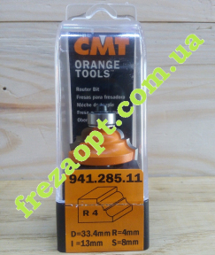 Концевая профильная фреза CMT 941.285.11 R4 (33,4x13x8x55,4)