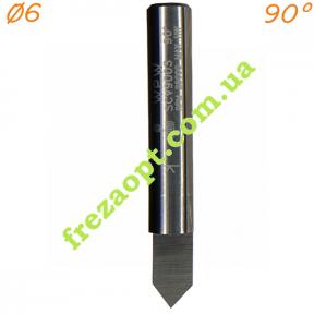 Коническая фреза WPW SCV9003 90° (Ø6*9.5*Ø6*40) HWM