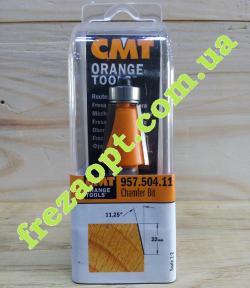 Концевая кромочная фреза CMT 957.504.11 11,25 (22x22x12x71)