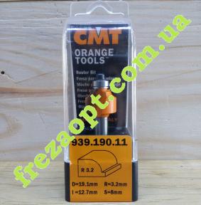 Радиусная фреза CMT 939.190.11 R3,2 (19,1x12,7x8x53)
