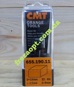 Фреза со сменными ножами CMT 655.190.11 (19x12x8x45)