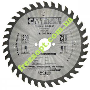 Пильный диск CMT 291.200.36M (200x30x2,8x1,8) 36Z