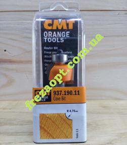 Кромочная радиусная фреза CMT 937.190.11 R4,75 (22,2x12,7x8x55)