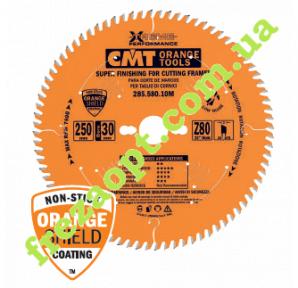 Пила для чистого торцового распила CMT 285.580.10M (250x30x3,0x2,5) 80Z