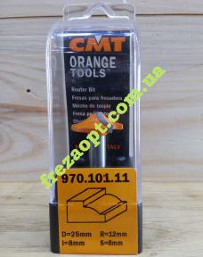 Фреза для кромок и фасадов CMT 970.101.11 R12 (25x8x8x40)