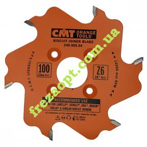 Пазовая пила для шпоночного соединения CMT 240.006.04 (100x22x3,96x3,0) Z6
