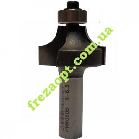 Кромочная радиусная фреза WoodPecker HRW0605 (R6,3 22x13x8x46)