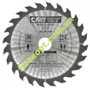 Дисковая пила CMT 291.184.24M (Ø184*2.6*1.6*Ø30) Z24