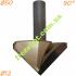 Коническая фреза Sekira 12-005-500 90° (50x29x12x68.5)